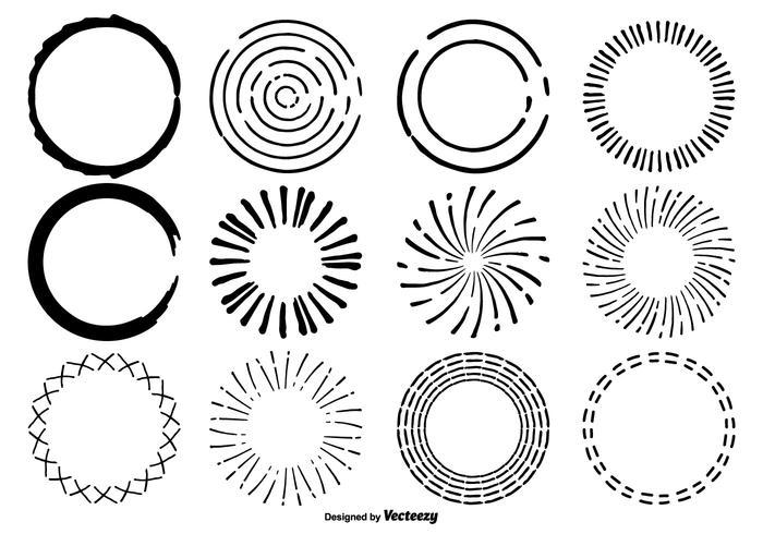 Hand getrokken Circle Shape Set