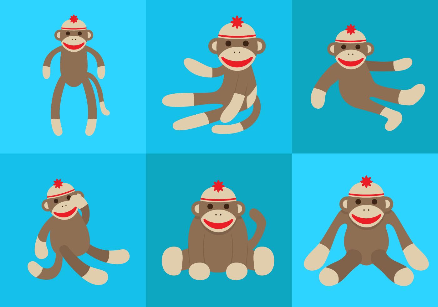 Vector Sock Monkey Download Free Vector Art Stock