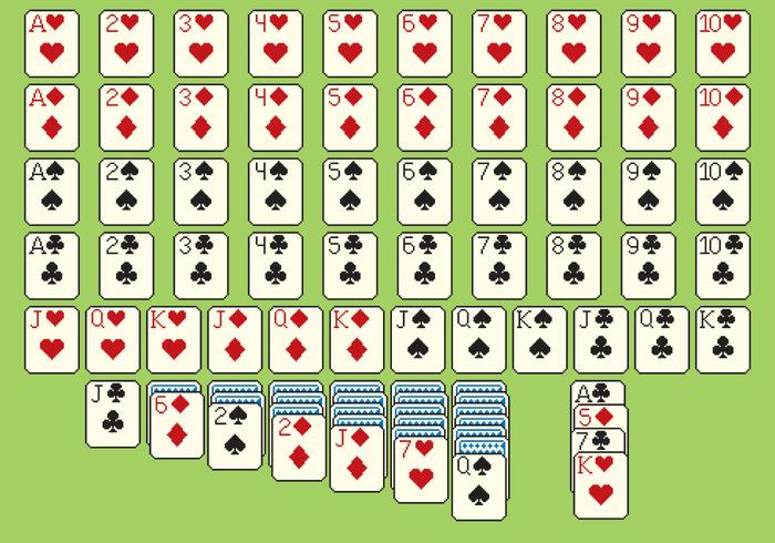 Solitare Cards Pixel Style