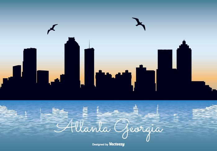 Atlanta georgien skyline illustration