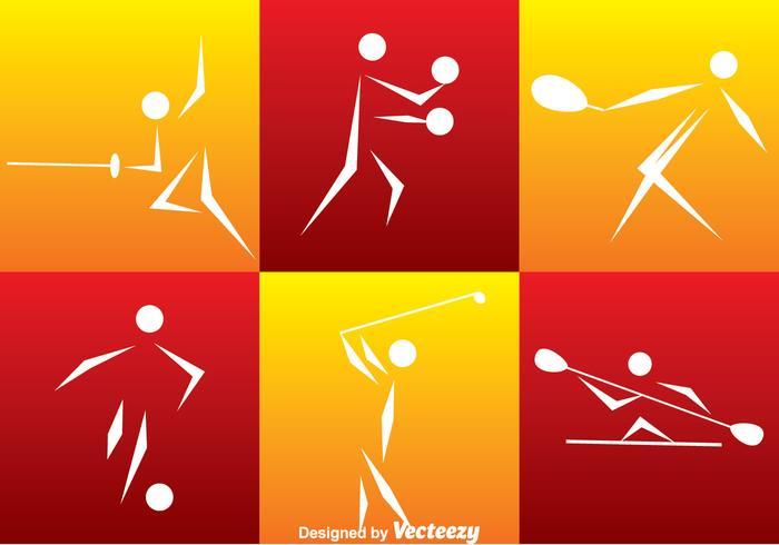 Set d'icônes de sport vecteur