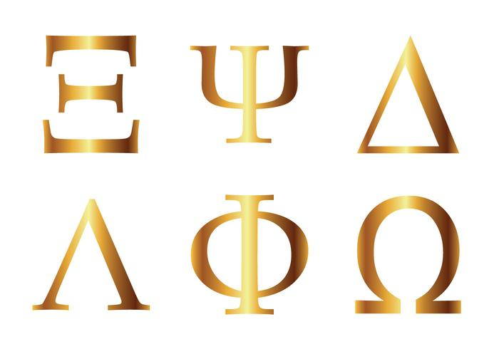 Delta Greek Letter Vector