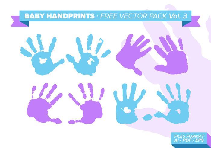 Baby Handprints Free Vector Pack Vol. 3