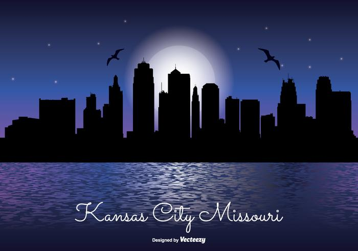 Kansas City Night Skyline