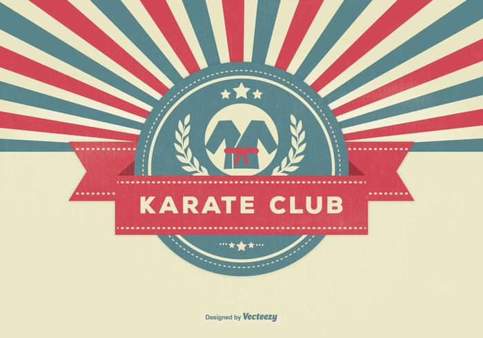 Retro stil karate club illustration
