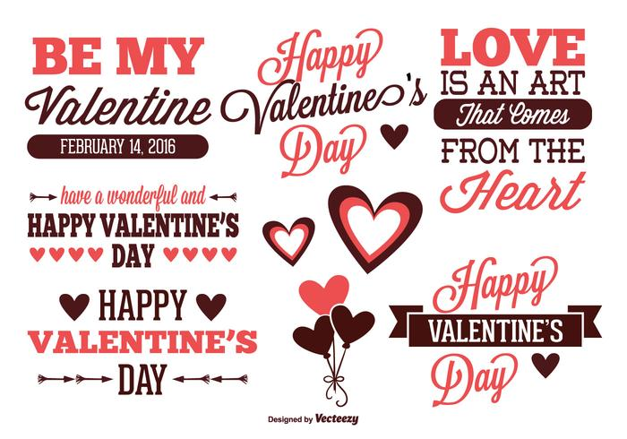 Valentines Day Label Set Download Free Vector Art – Valentine Day Label