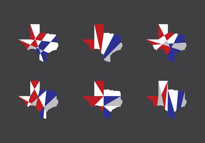 Texas Map Vector Icons #6