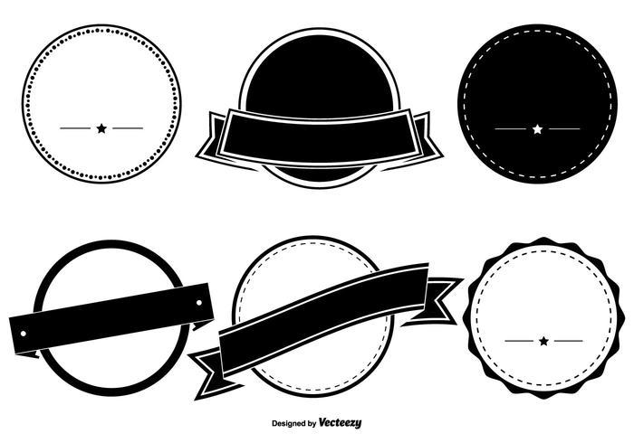 Geassorteerde badge vorm set