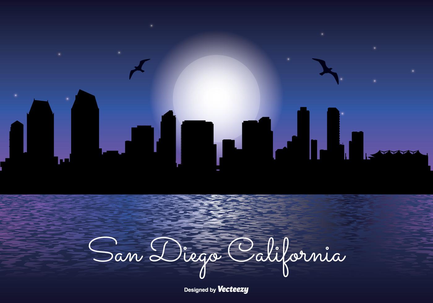 san diego night skyline
