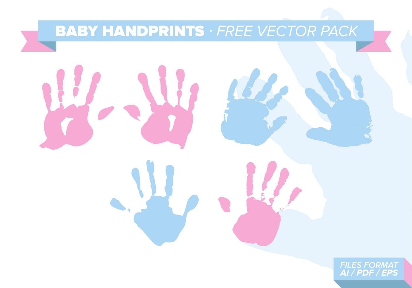 Baby Handprints Free Vector Pack Download Free Vectors