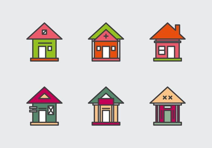 Free Townhomes Vector Icons #1