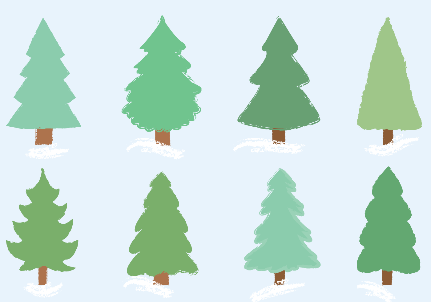 Free Christmas Tree Vector - Download Free Vector Art, Stock Graphics ...