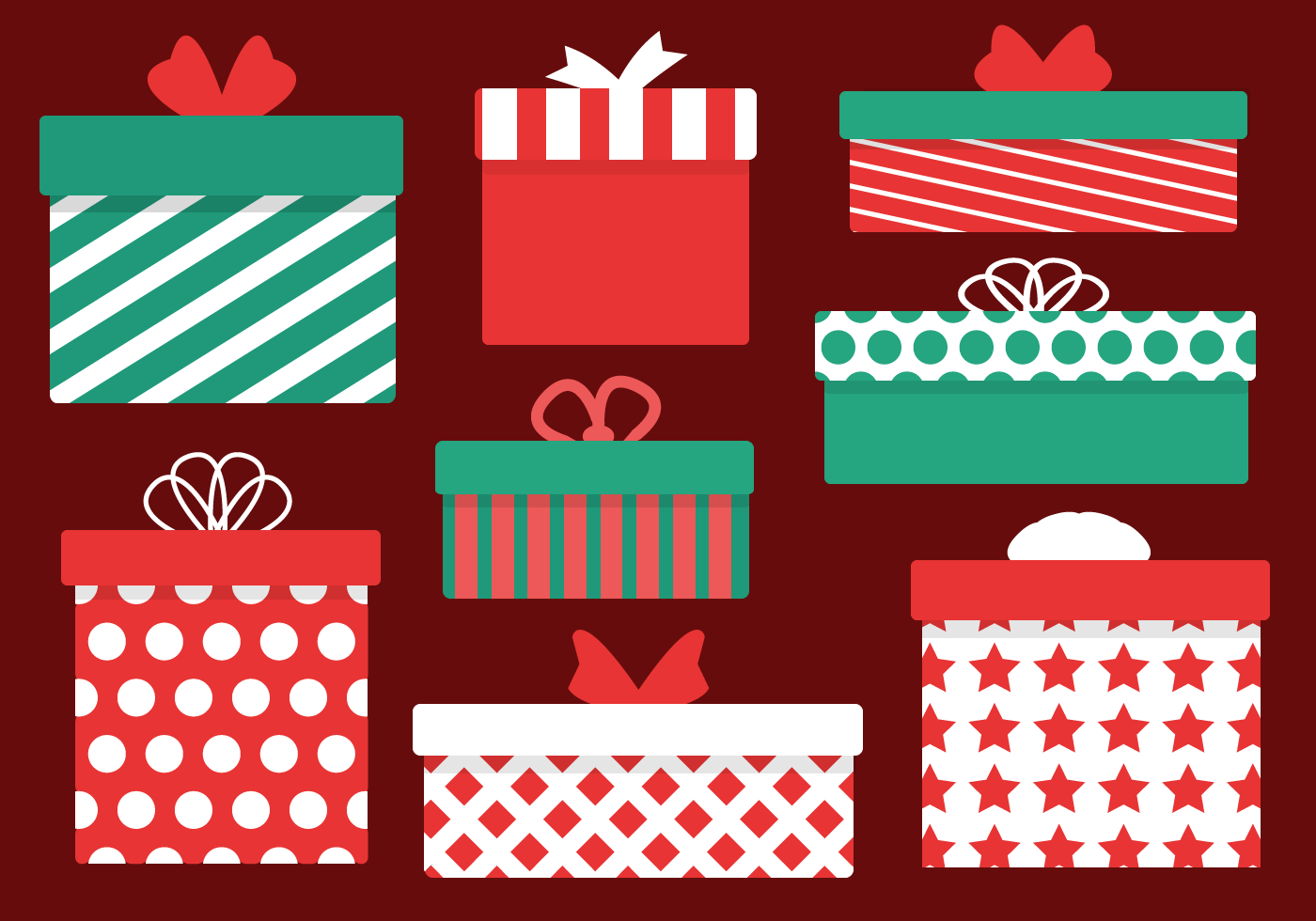 Free Christmas Presents Vector