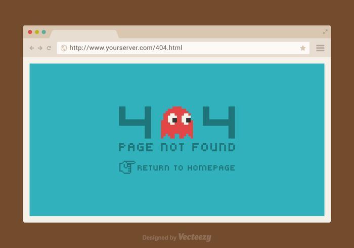 Pagina di vettore di errore 404