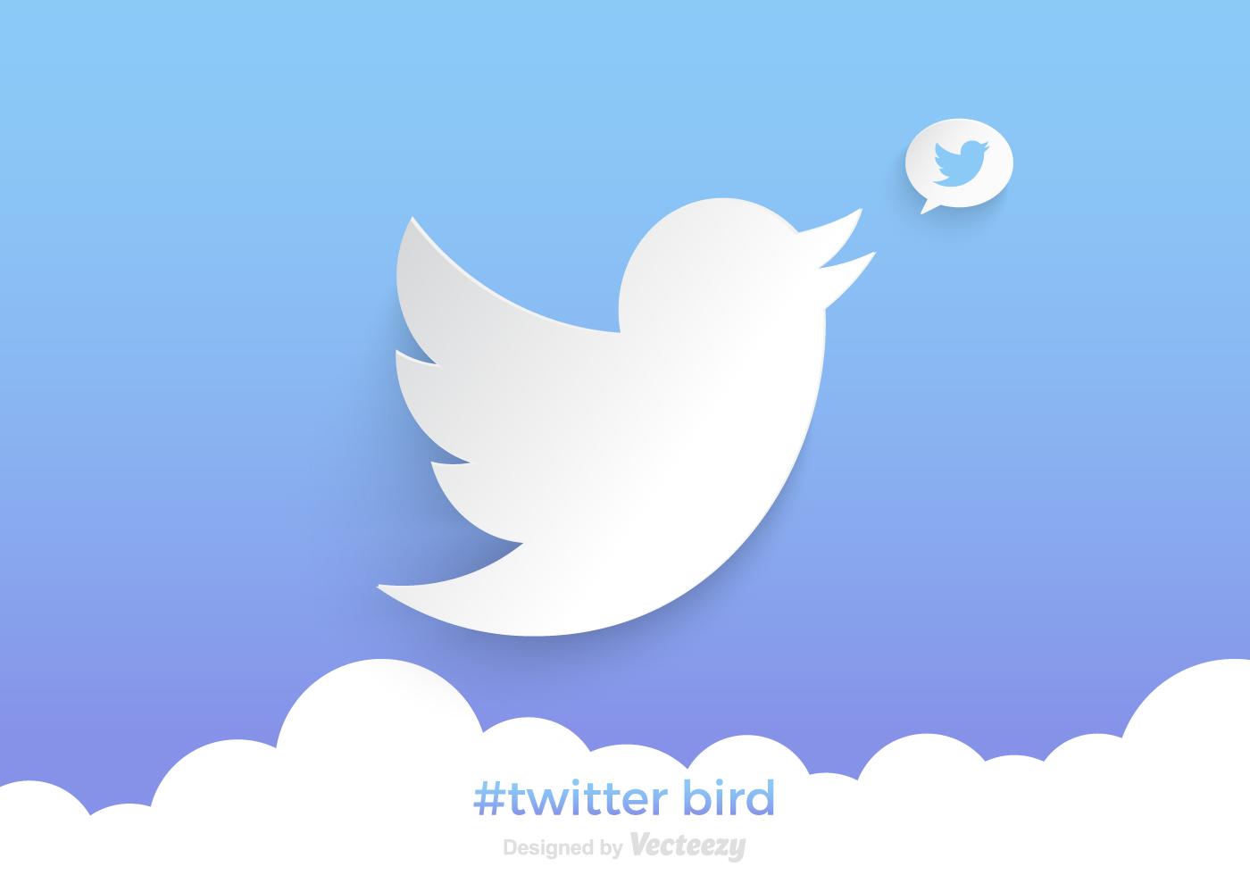 free twitter bird vector background download free vector