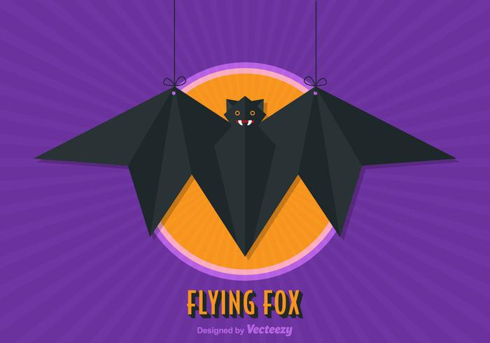 Free Flying Fox Vector Illustration