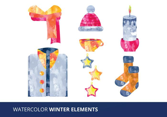 Watercolor Elements Vector Illustration