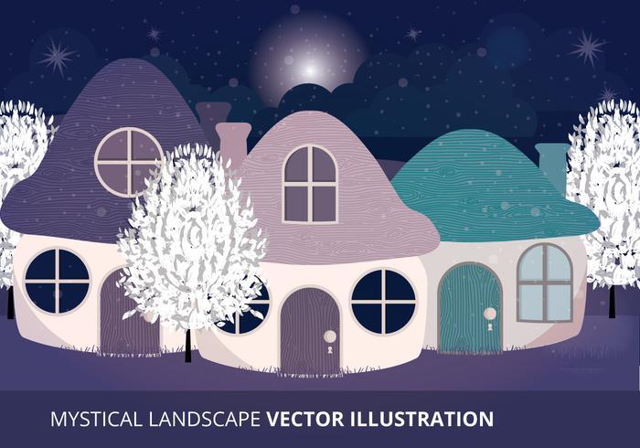 Mystisk Landskap Vektor Illustration