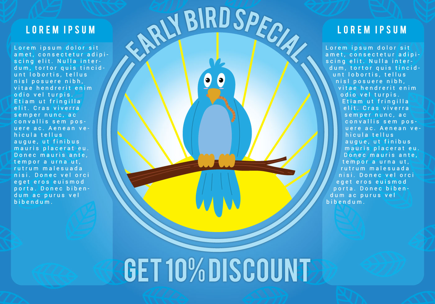 Early Bird Promotion Vector Download Free Vector Art