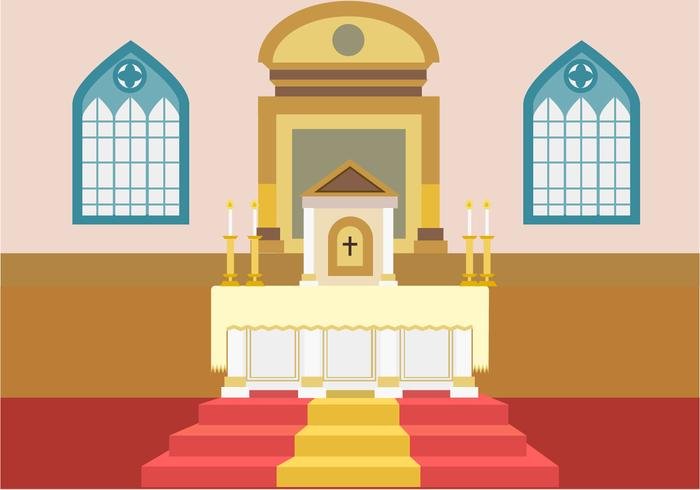 Church Altar Free Vector