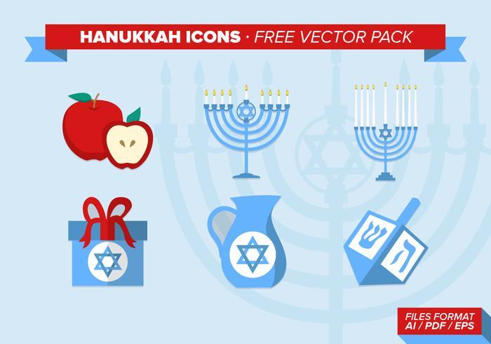 Hanukkah Icons Free Vector Pack