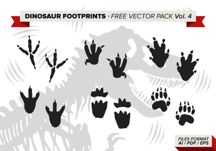 Dinosaur Footprints Free Vector Pack Vol 4