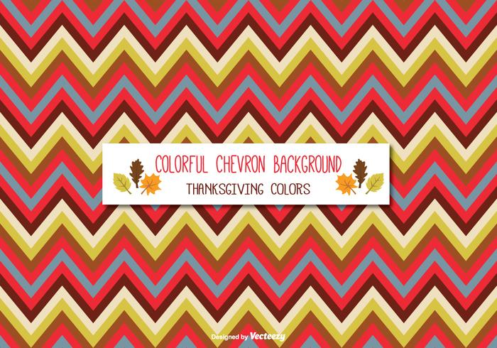 Colorful Thanksgiving Colored Chevron Background