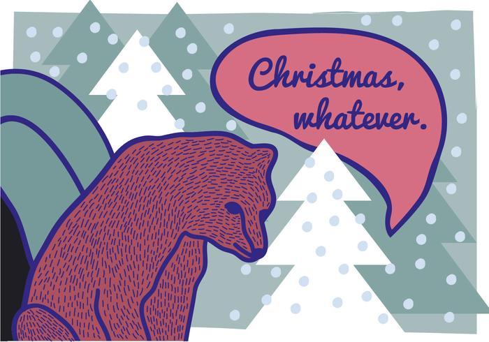 Free Hand Drawn Brown Bear Illustration