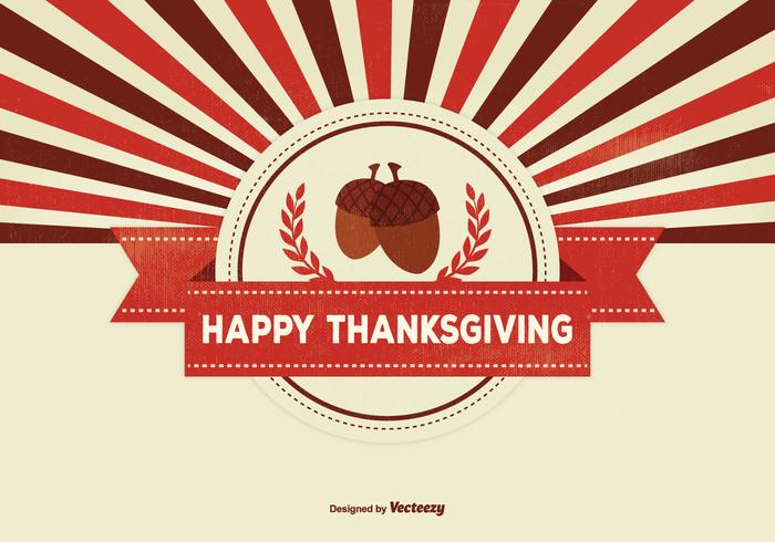 Retro Thanksgiving Background Illustration