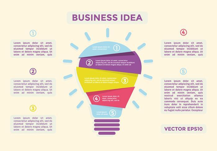 Free Flat Business Idea Vector