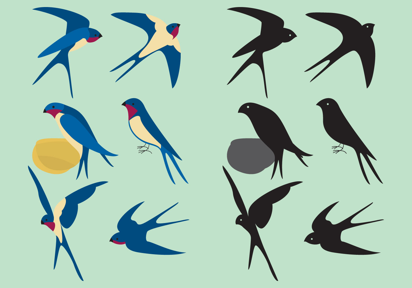 colorful swallows download free vector art  stock pink owl on branch clip art owl on tree branch clip art
