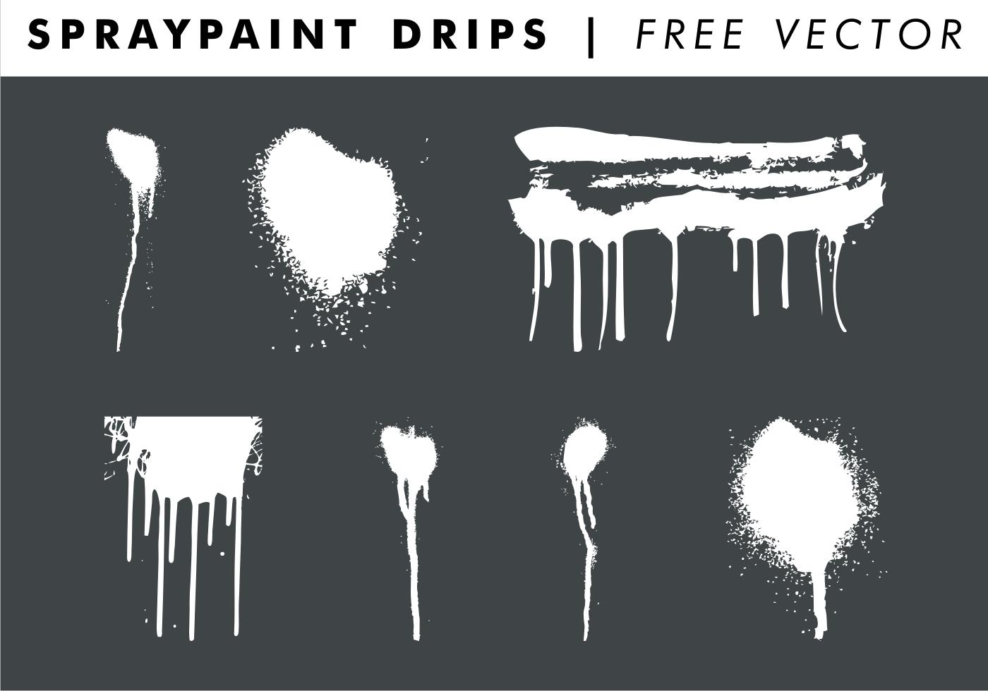 Spray Paint Drips Photoshop Brush