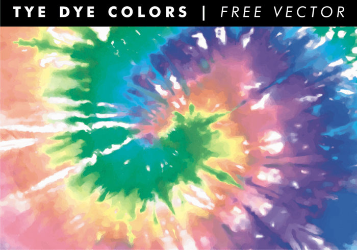 Tye Dye Colors Background Free Vector