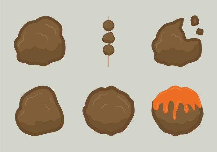 Illustrazione libera di vettore della palla di carne