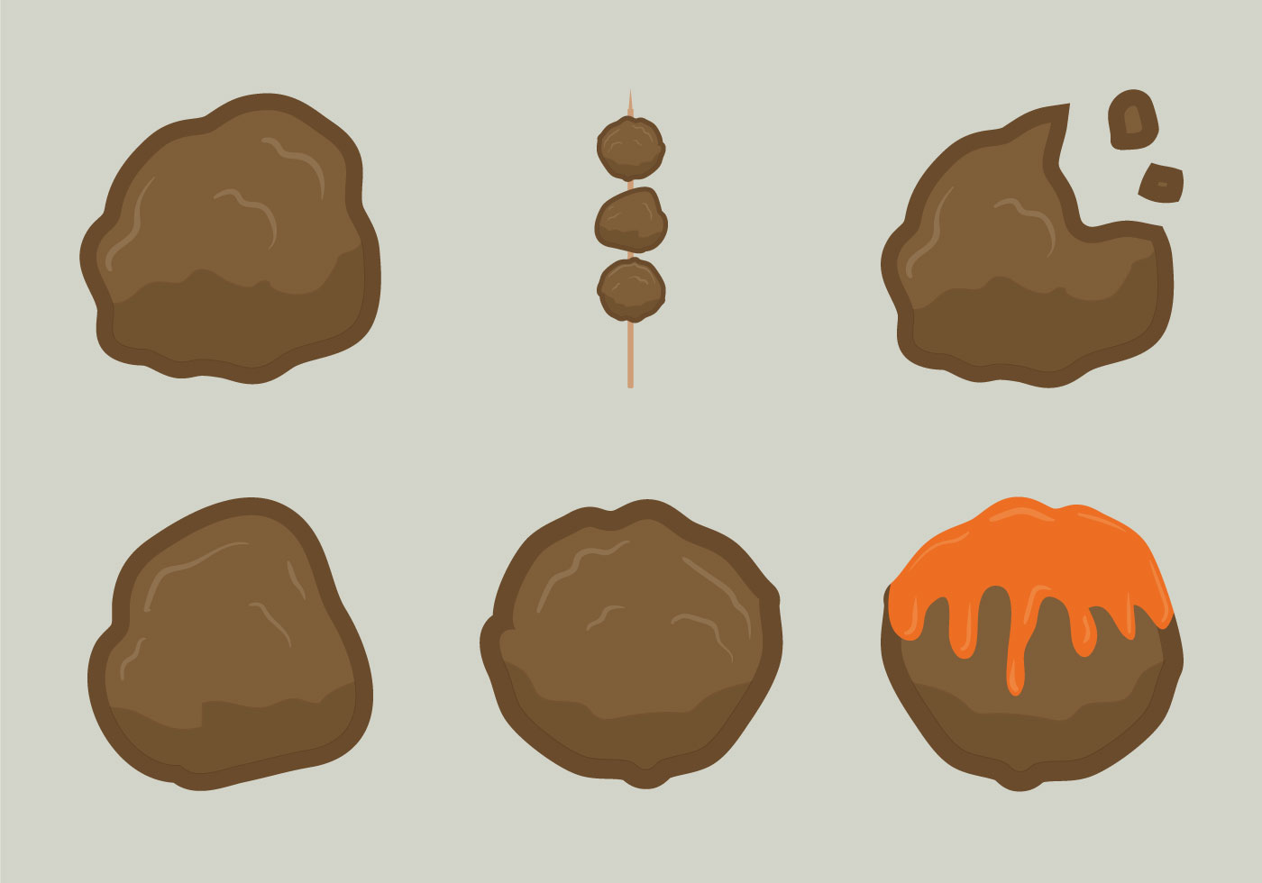 free meat ball vector illustration download free vector
