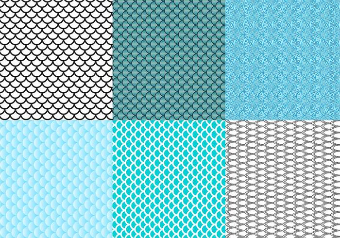Free Fish Scale Pattern Vector