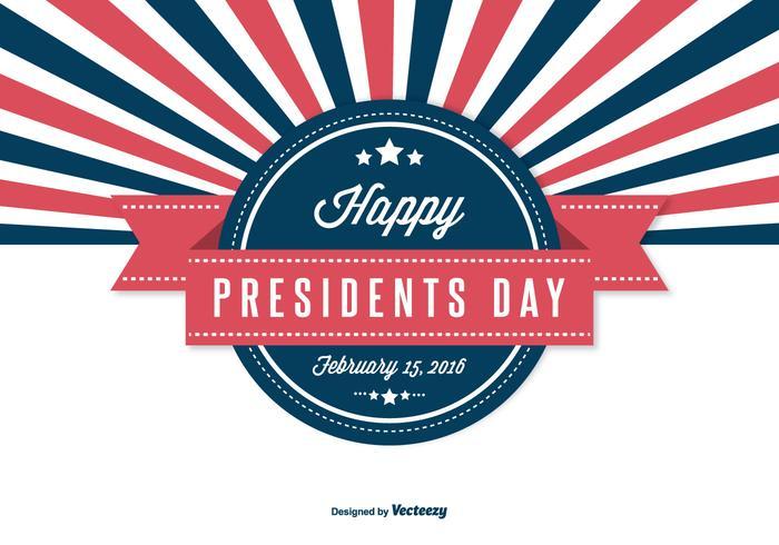 Retro presidents dag illustration