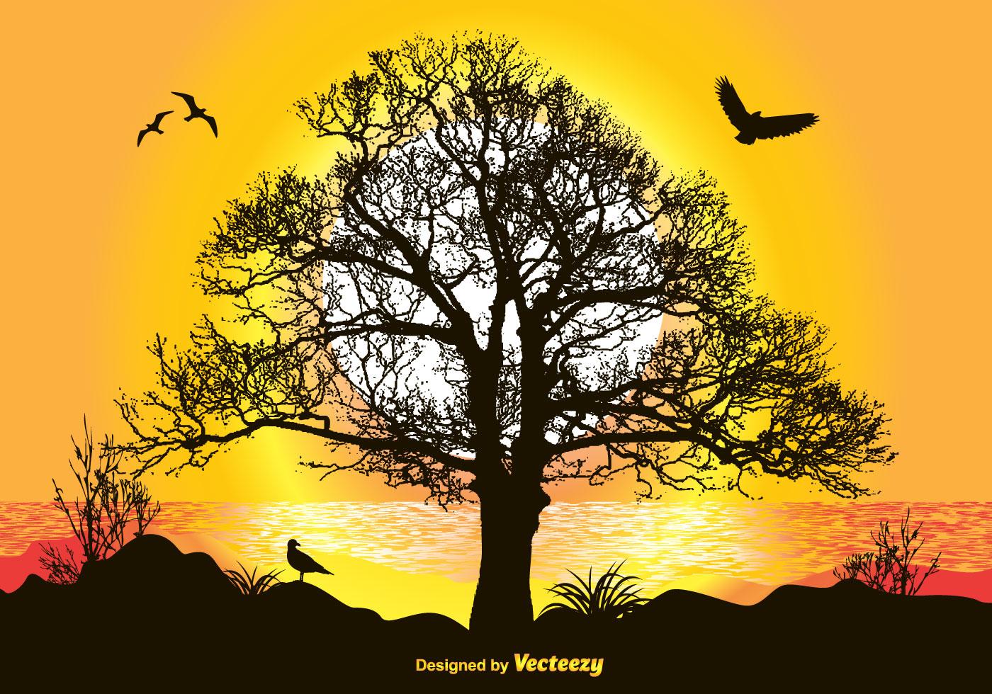 Landscape Illustration Vector Free: Beautiful Landscape Illustration
