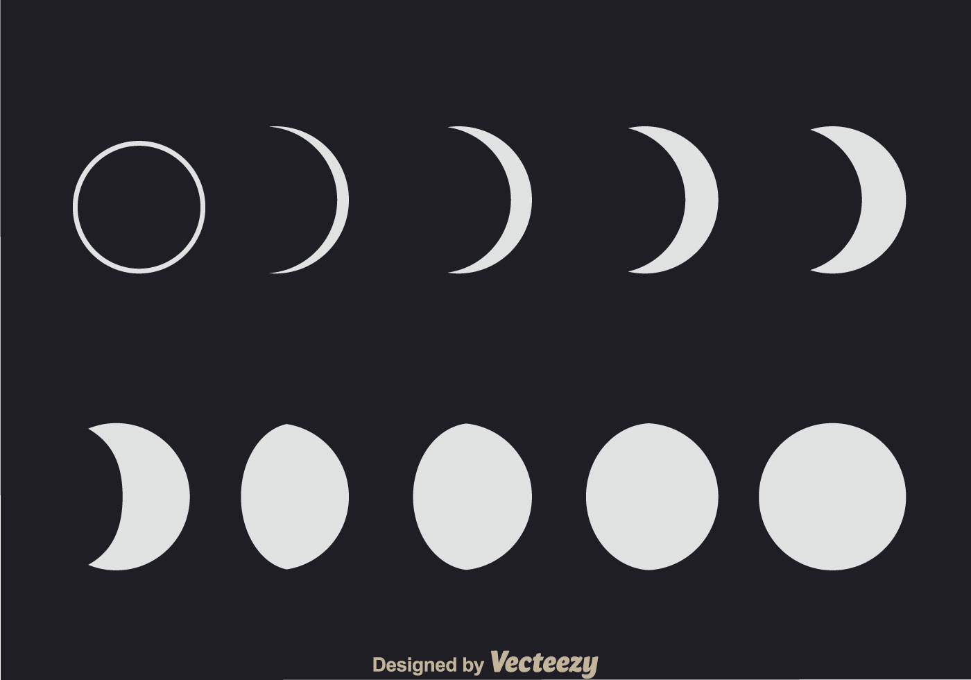 Lunar Phases Download Free Vector Art Stock Graphics Images Diagram