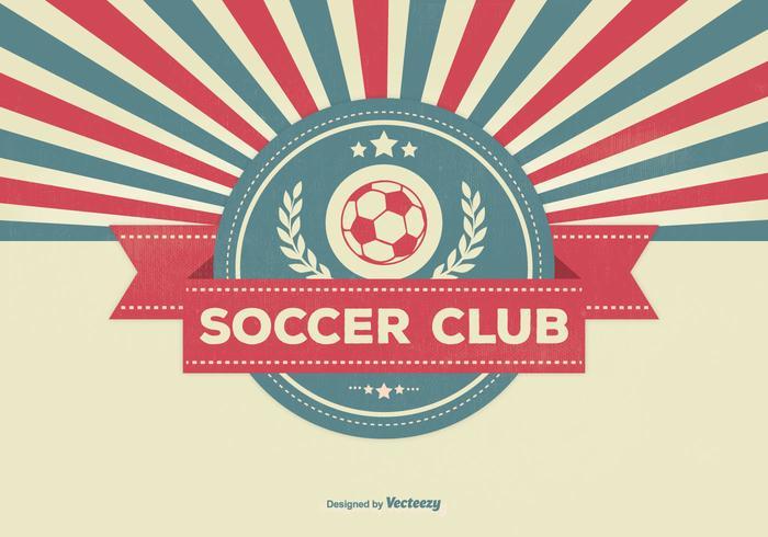 Retro Style Soccer Club Illustration