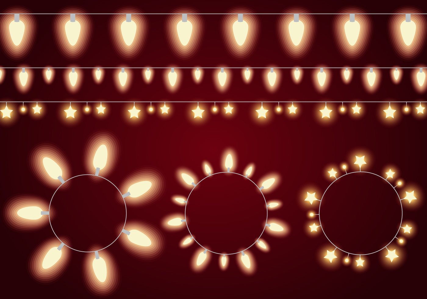 String Lights Vector : Glowing Light String Vectors - Download Free Vector Art, Stock Graphics & Images