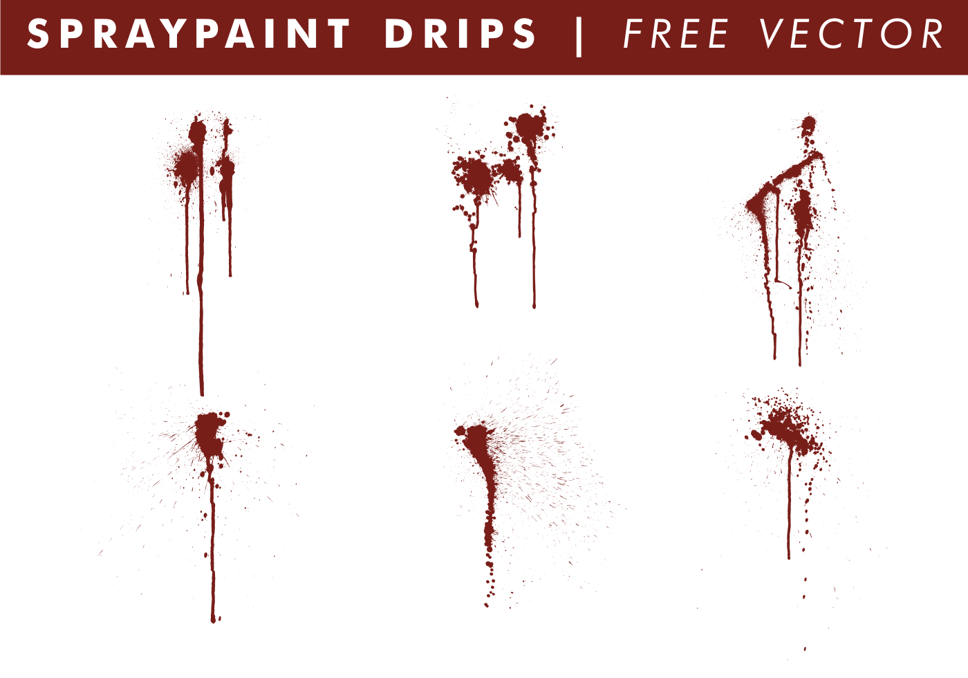 Spraypaint Drips Free Vector Download Free Vector Art Stock Graphics Images