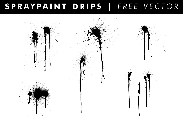 Spraypaint Drips Free Vector