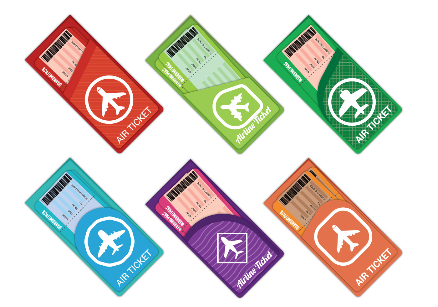 airplane ticket vector