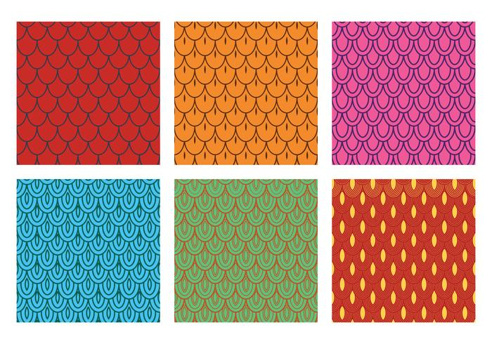 Fish Scale Pattern Vector