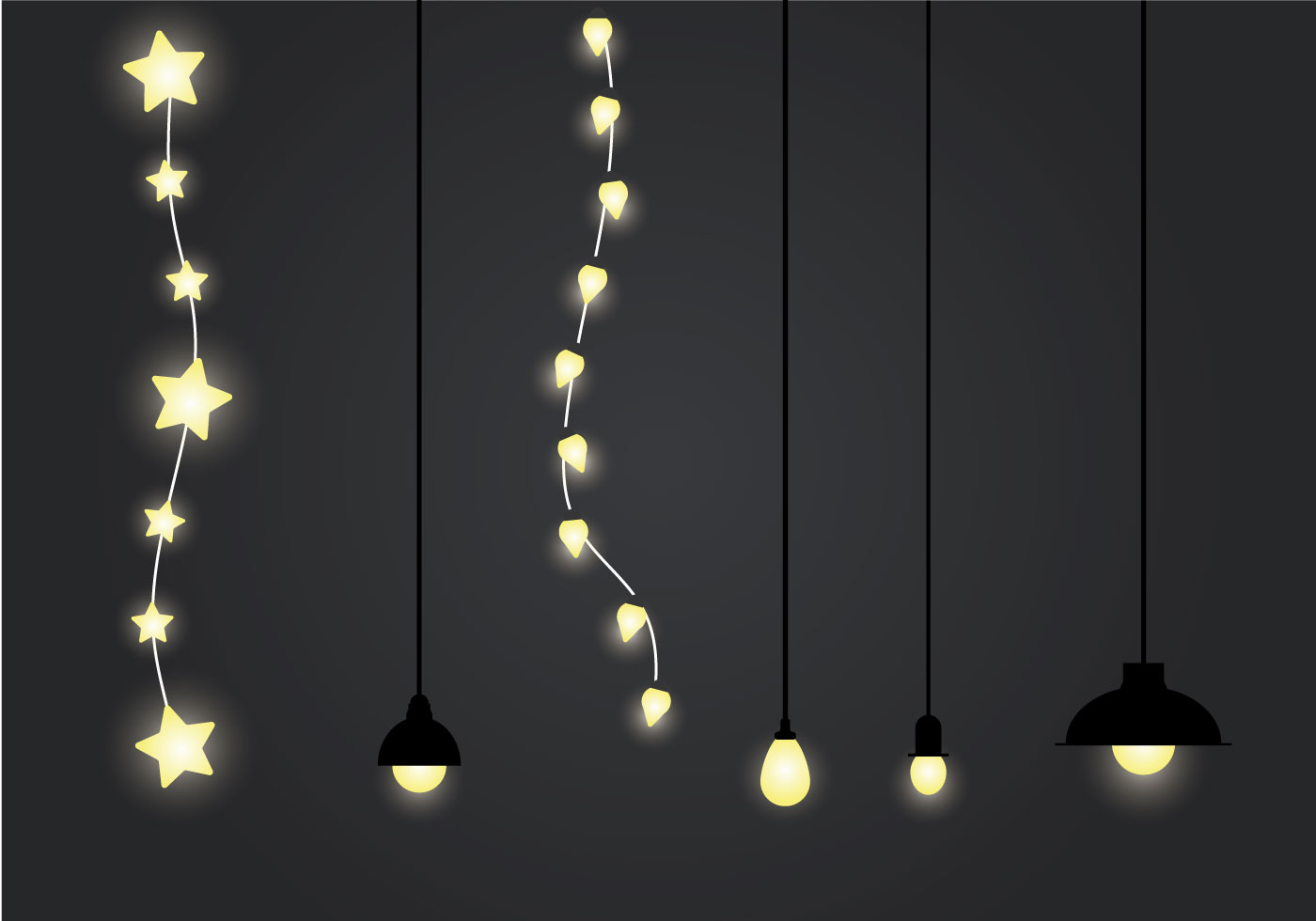 Free Hanging Light Vector Illustration