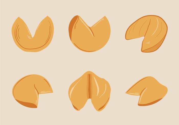 Free Fortune Cookie Vector Illustration