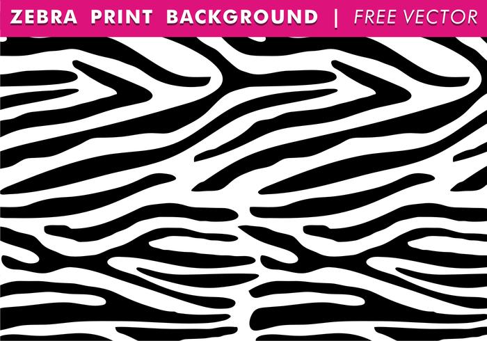 Zebra Print Background Free Vector