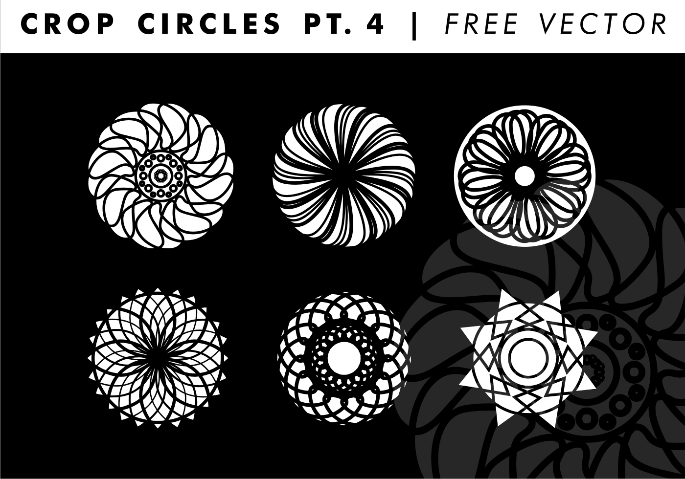 crop circles pt  4 free vector