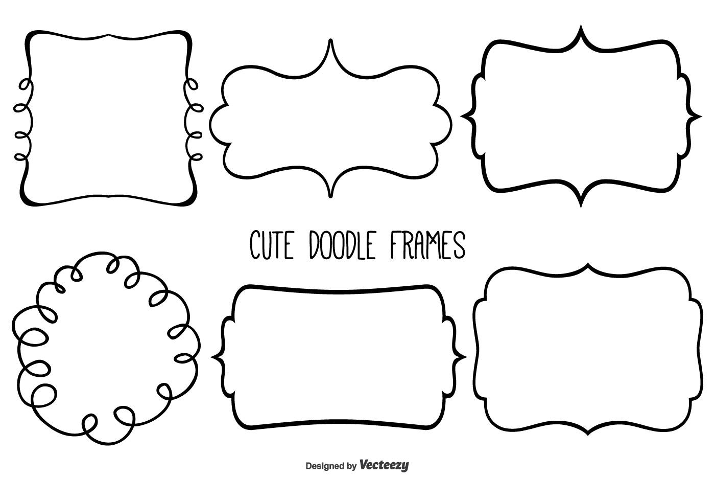Cute Doodle Frame Set - Download Free Vector Art, Stock Graphics ...